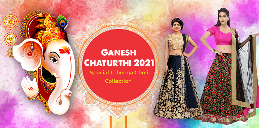 Celebrate Ganesh Chaturthi with a Special Lehenga Choli Collection